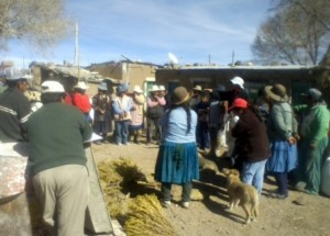 Community meeting, Nor Lipez, D.Romero