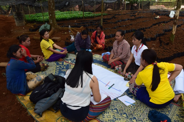 Focus group meeting in Lak 35, Paksong District, Laos